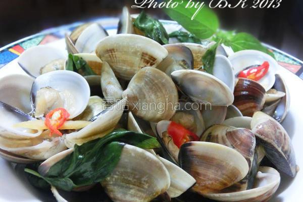 塔香炒蛤蜊的做法