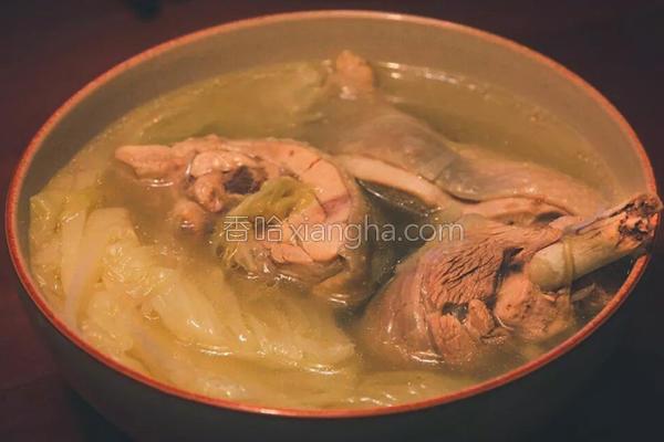 大白菜炖鸡汤的做法