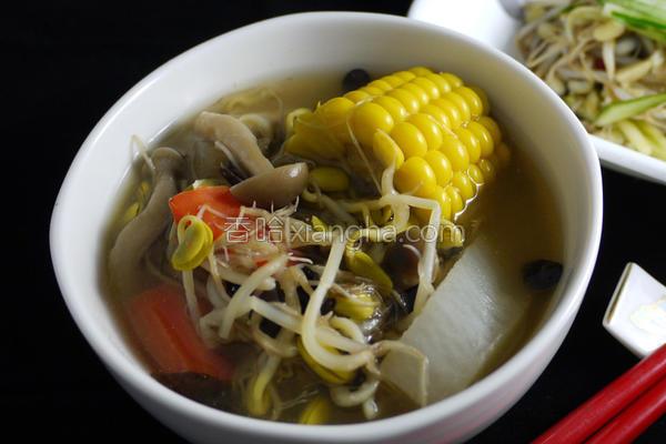 黑豆芽味噌汤的做法