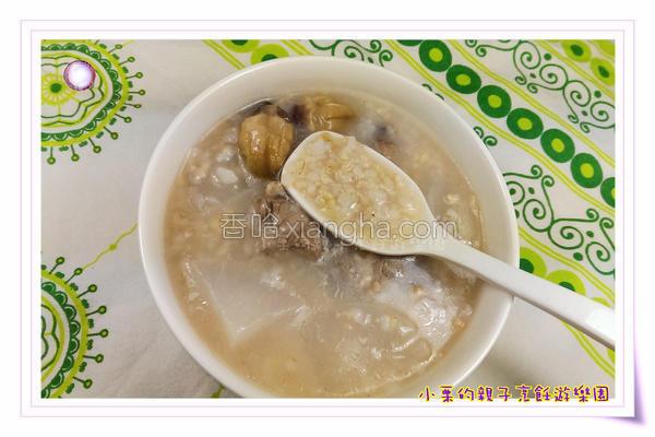 洛神糙米排骨粥的做法