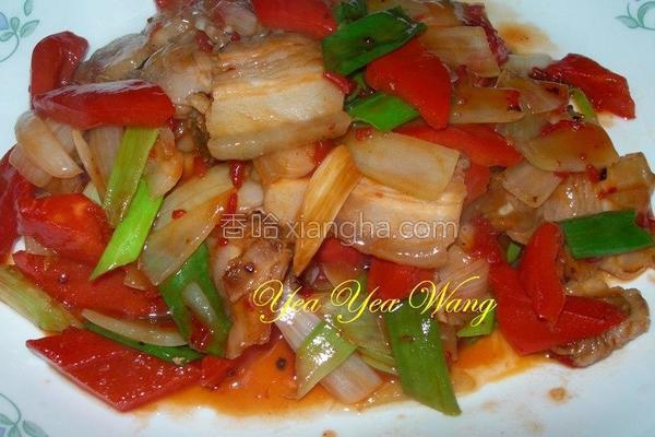 红麹梅醋五花肉片的做法