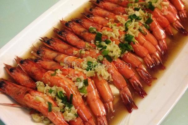 豆腐蒜蓉虾的做法