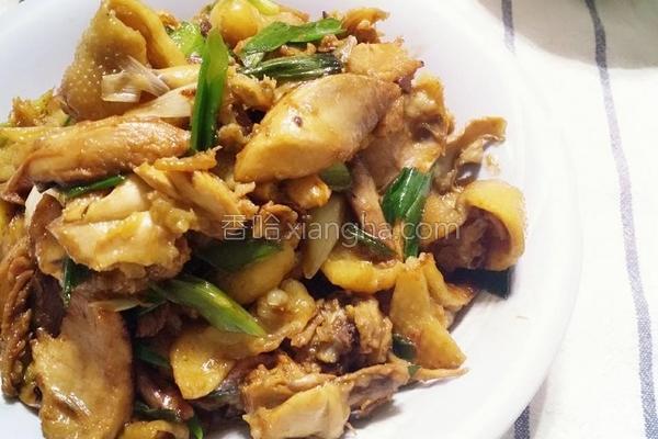 豆瓣甜面酱炒鸡肉的做法