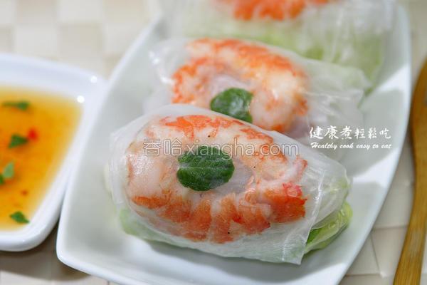 越式生菜春卷的做法