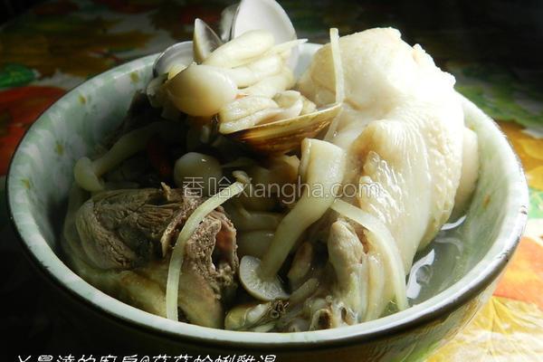 蛤蜊菇菇鸡汤的做法