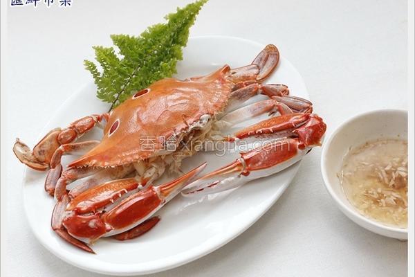 香醋汁三点蟹的做法