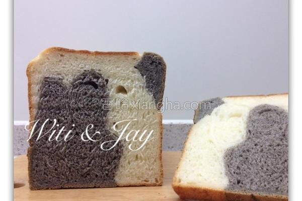 乳牛纹吐司面包的做法