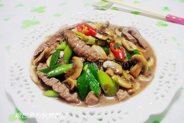 蒜香蘑菇炒牛柳的做法