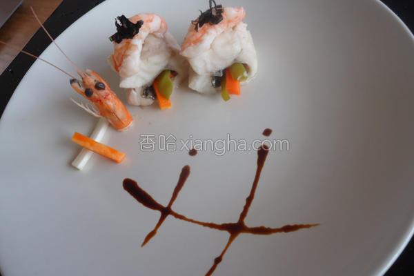 鲈鱼鲜虾卷的做法