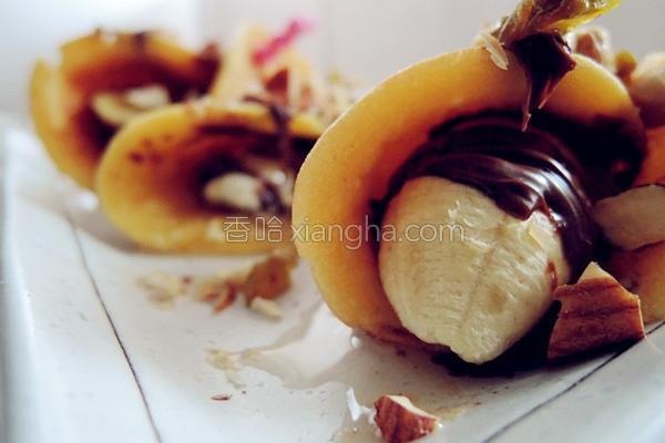 坚果香蕉松饼的做法