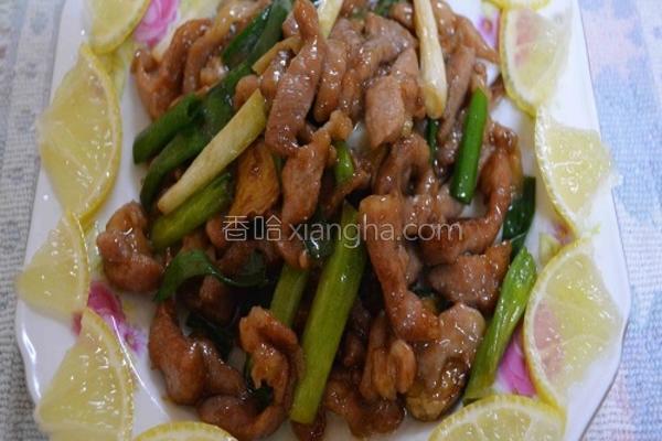 葱姜烧豚肉的做法