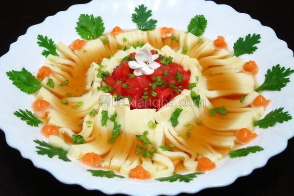 番茄冷豆腐面的做法