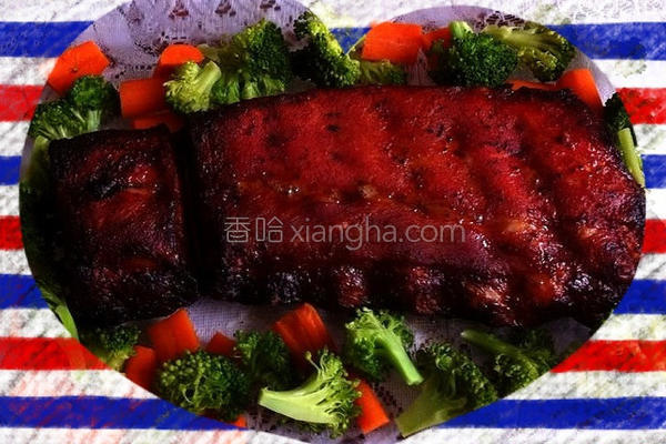 美式炭烤猪肋排的做法