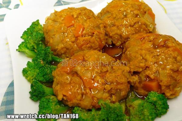 咖哩南瓜蒸肉饼的做法