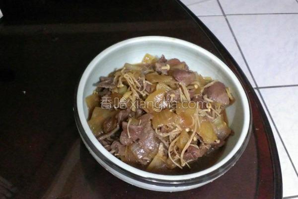 洋葱牛肉炖煮的做法