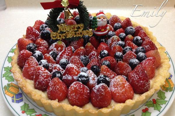耶诞草莓派的做法