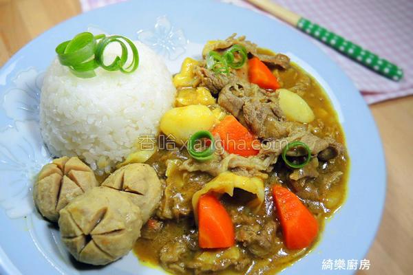 牛肉蔬菜咖哩饭的做法