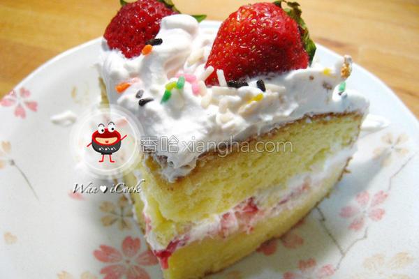 草莓奶油蛋糕的做法