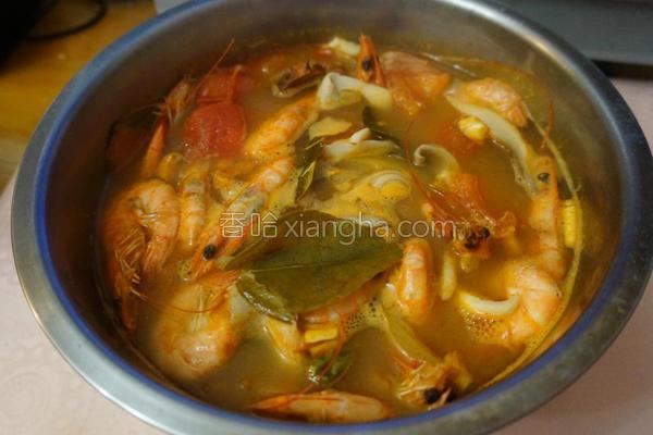 酸辣虾汤的做法