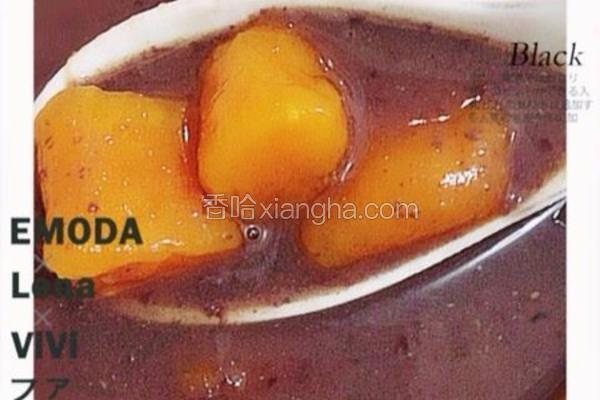 地瓜圆黑糖红豆汤