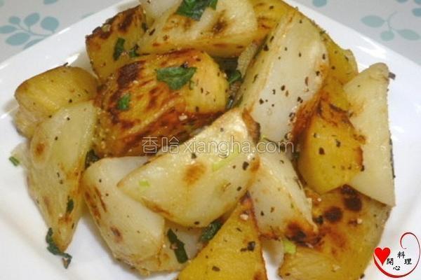 椒盐双薯的做法