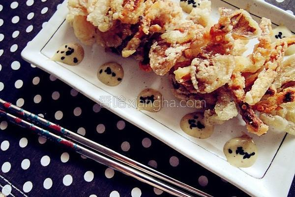 酥脆炸平菇的做法