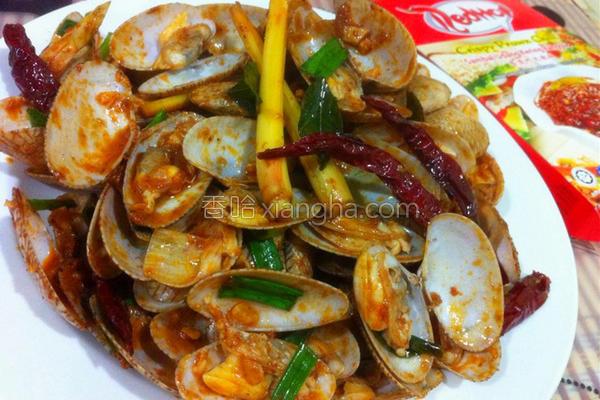 虾米辣酱炒花甲的做法