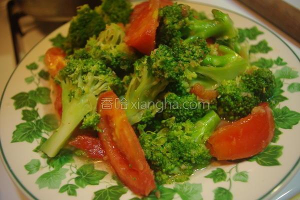 番茄花椰菜沙拉的做法