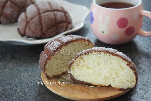 巧克力哈密瓜面包的做法