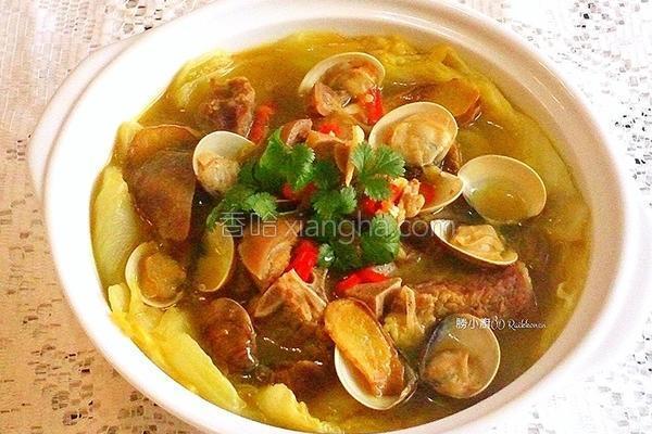 咖哩鱼羊锅的做法