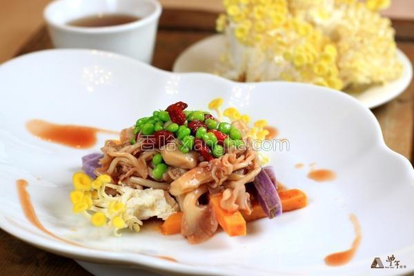 豆豆茶香菇的做法