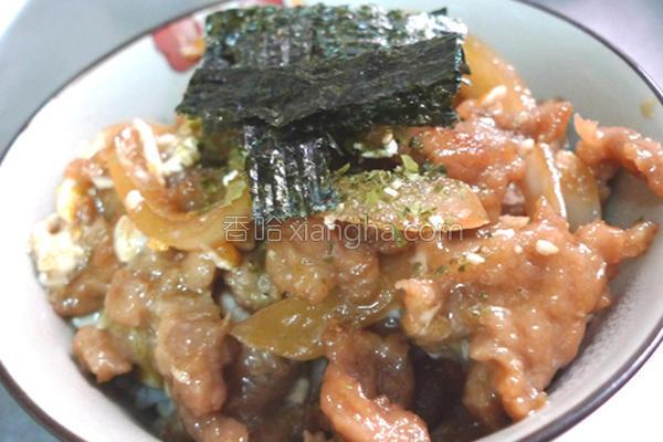 台式洋葱肉羹盖饭的做法