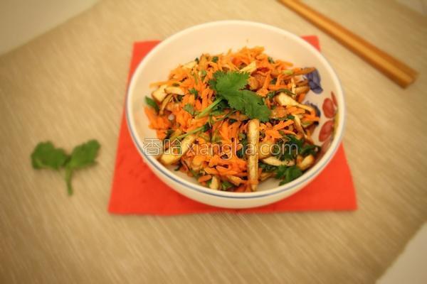 香菜拌胡萝卜豆干的做法