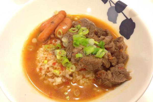 超辣牛肉汤饭的做法