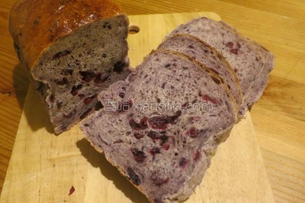 蓝莓蔓越莓干面包的做法