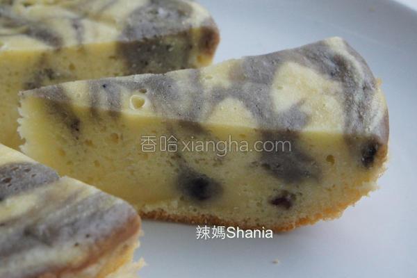 大理石蓝莓蛋糕的做法