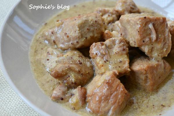 颗粒芥末酱炖肉的做法