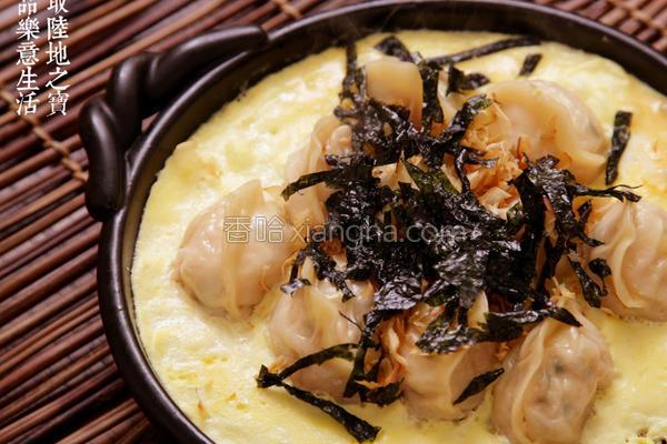 陶锅料理鸡蛋煎饺的做法