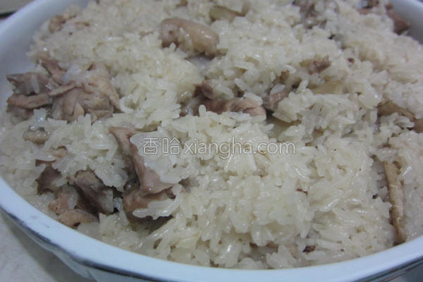 生姜鸭饭的做法