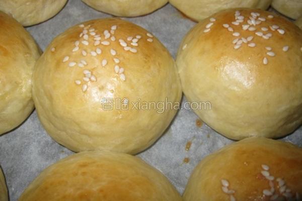 白芝麻小面包的做法