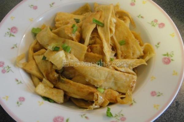 家传炒豆腐皮的做法