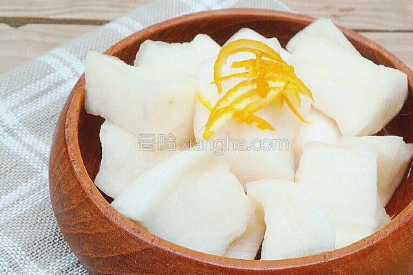 柚子糖醋萝卜渍物的做法
