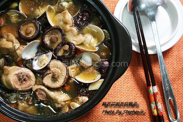 麻香蒜头香菇鸡汤的做法