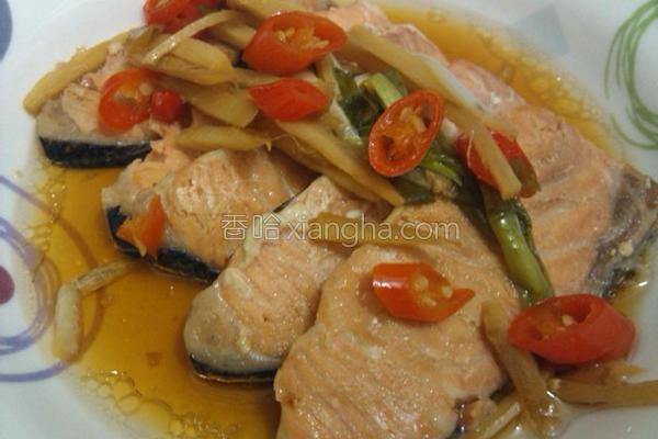 烤红烧鲑鱼片的做法