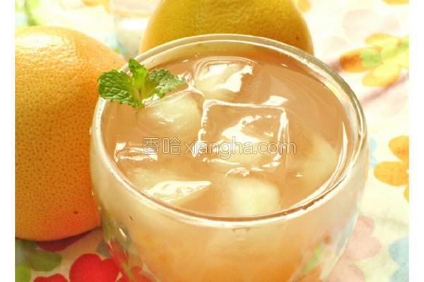 薄荷葡萄柚冰饮的做法
