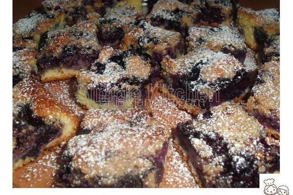 蓝莓松糕的做法