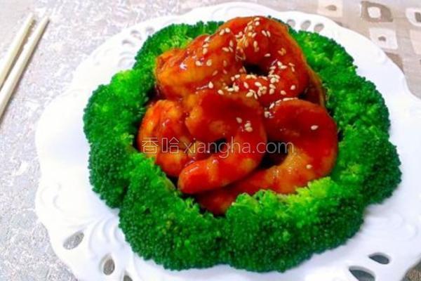 蜜汁虾球的做法