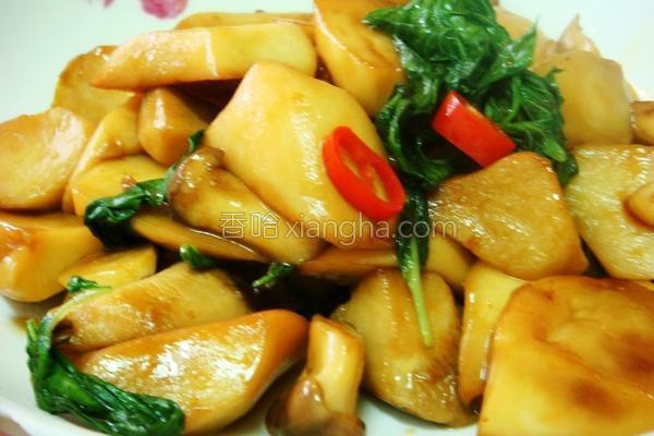 塔香杏鲍菇的做法