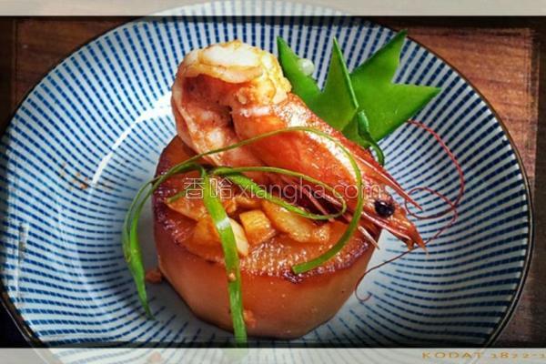 胡椒虾烧酱根的做法