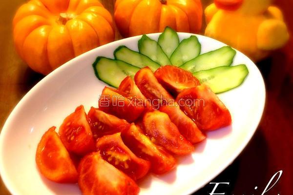 蜂蜜梅醋腌番茄的做法